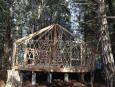 Yurt in progress