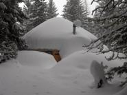 30 foot Yurt, ID, snowcovered