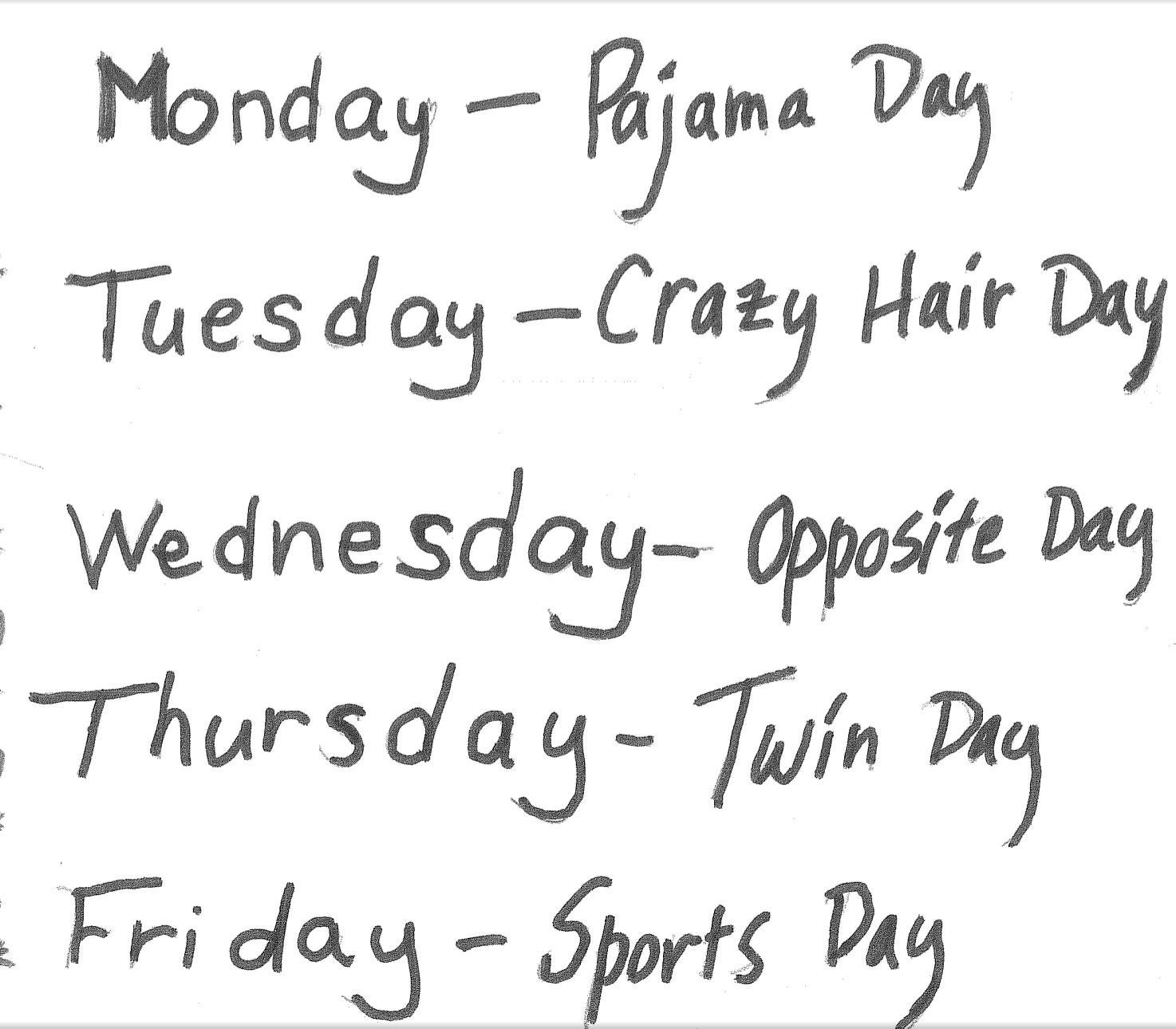 Ideas For School Spirit Week