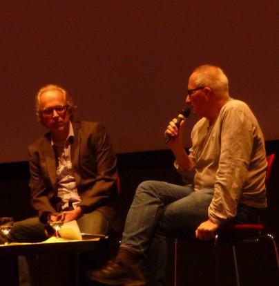 Dominik Graf (r.) mit Filmkritiker Rainer Knepperges auf der Kölner Tagung; Foto: kir