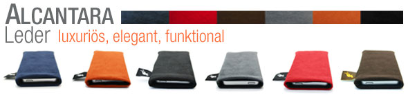 Alcantara Handytaschen