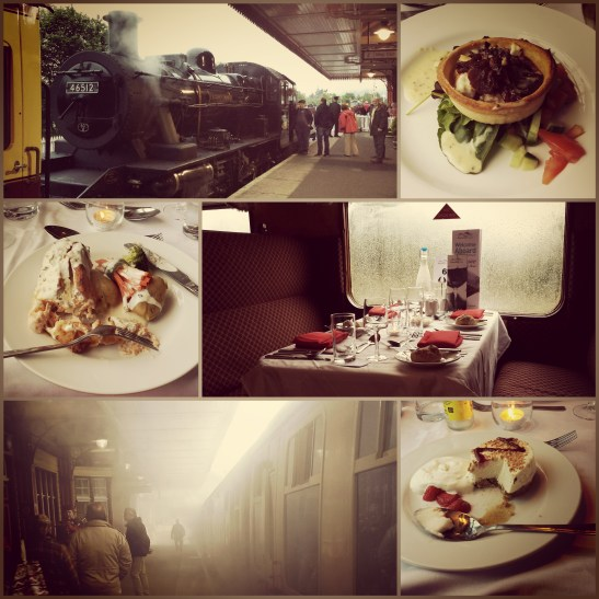 Fine dining steam train style