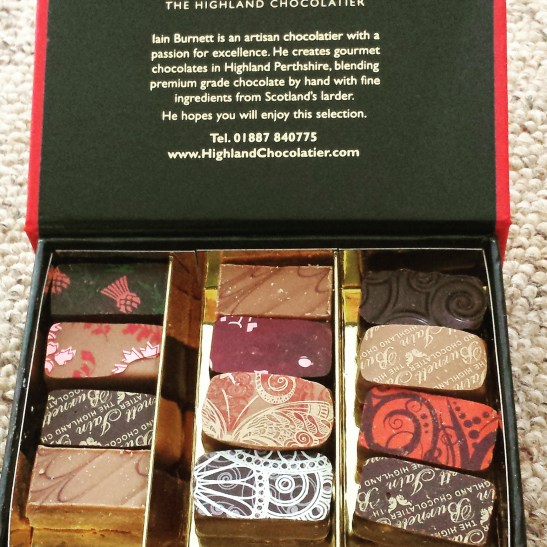 Dalwinnie whiskey chocolates