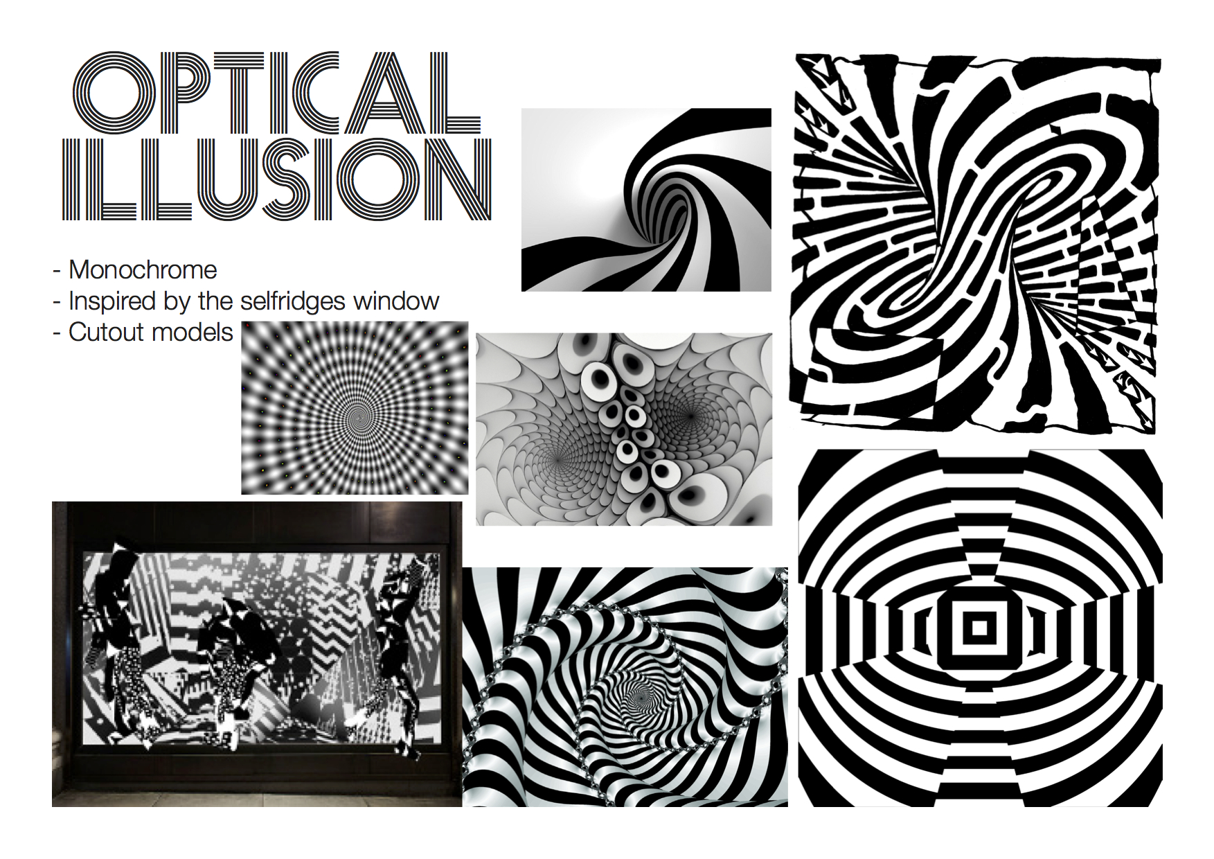 Optical Illusion Mood Board