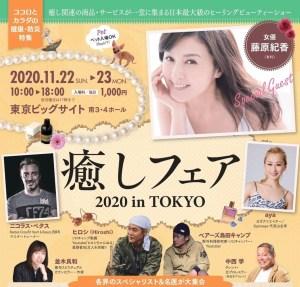 癒しフェア2020 in 東京 出展の報告