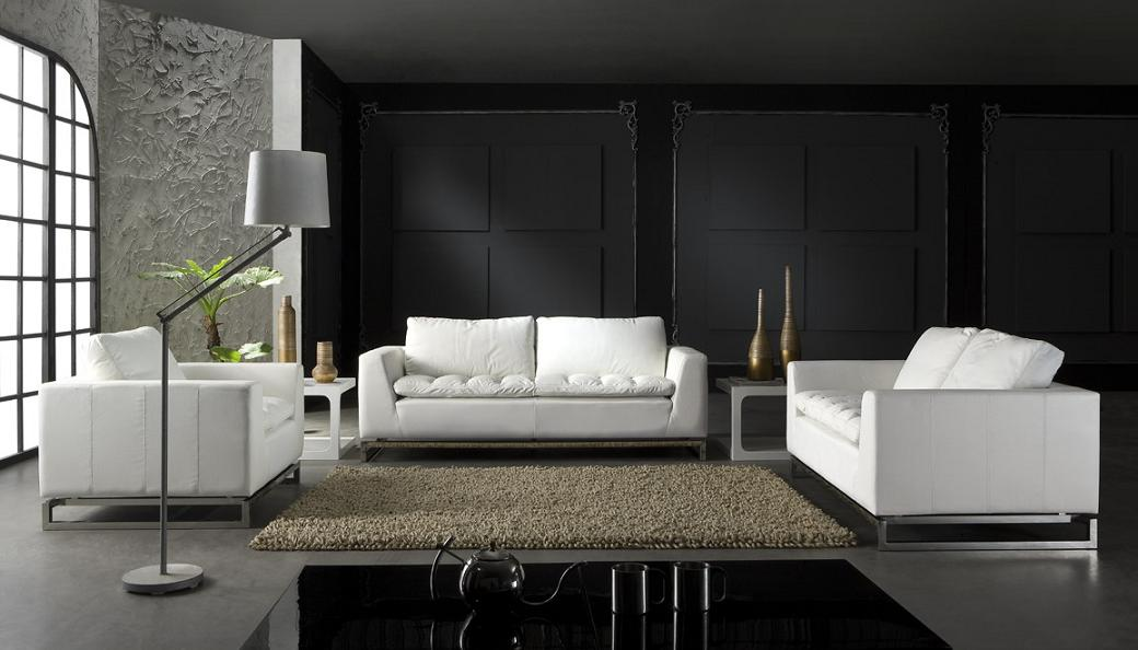 S8616 Modern Leather Lounge Suite 321 Fortune Furniture