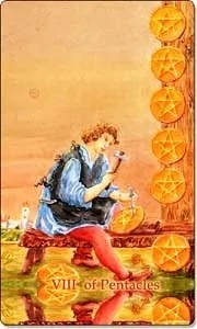 Eight of Pentacles - Reverse