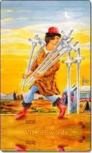 Seven of Swords - Reverse