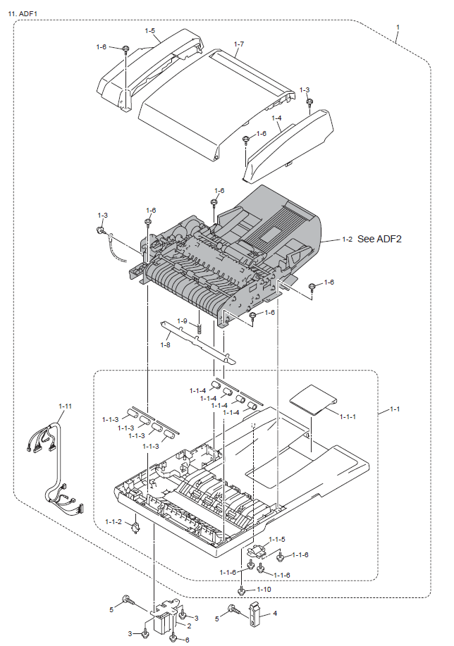 Brother MFC 8860DN Parts List and Diagrams