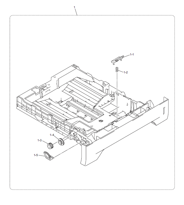 Brother HL 5340D Parts List and Diagrams