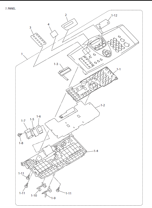 Brother MFC 7225N Parts List and Diagrams