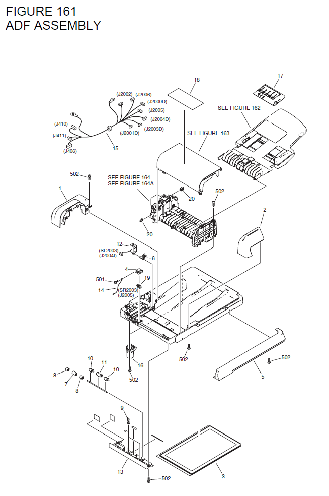 Canon imageCLASS MF6550 Parts List and Diagrams