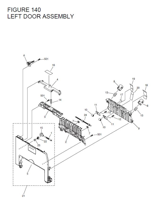 Canon i-SENSYS MF6580 Parts List and Diagrams