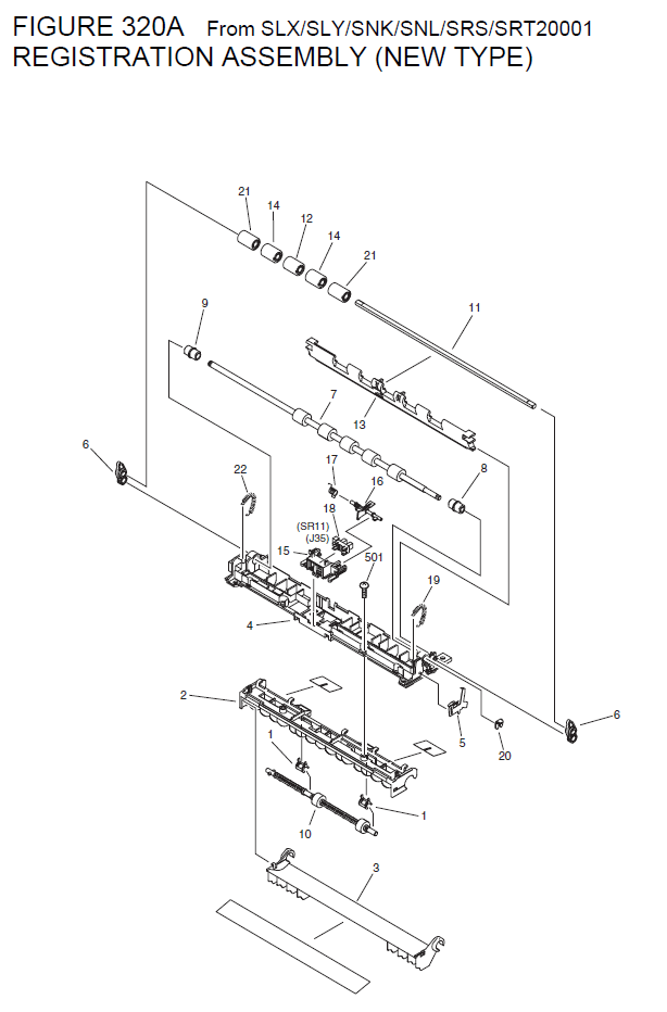 Canon imageCLASS MF6560 Parts List and Diagrams