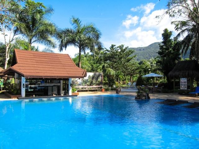 Pool at Daluyon Resort in Sabang, Palawan, Philippines