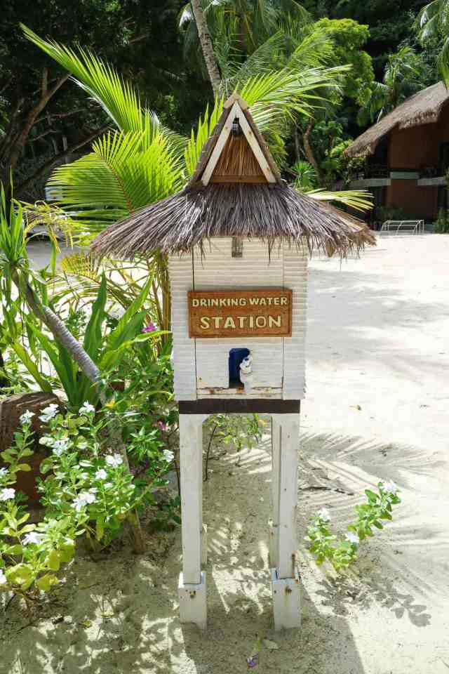 Water station at Miniloc Island, El Nido, Palawan, Phlippines