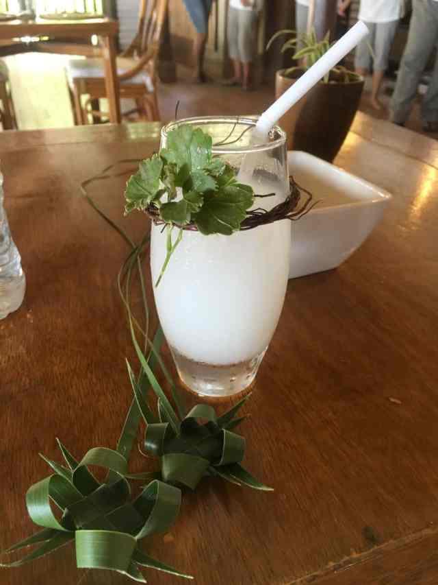 Buko pandan juice at Miniloc Island, El Nido, Palawan, Phlippines