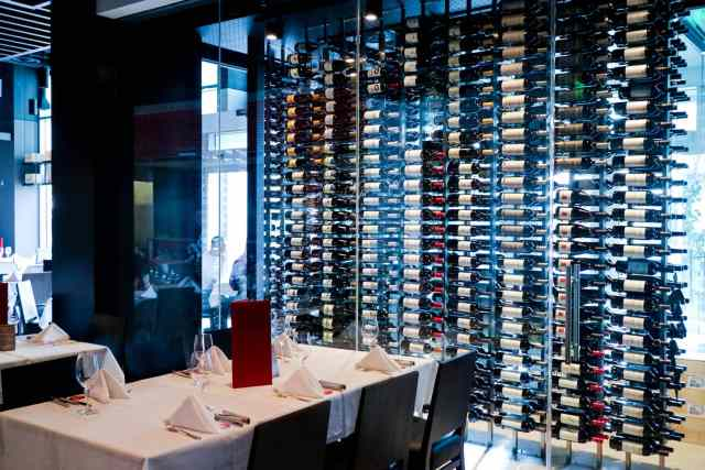 Wine room at Pampa Brazilian Steakhouse, Calgary, Canada