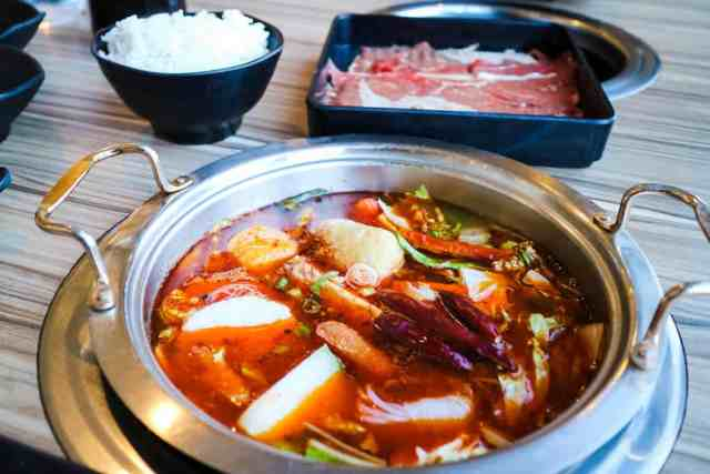 Szechuan Spicy Hot Pot from Centre Street Japanese Hotpot, Calgary, Canada