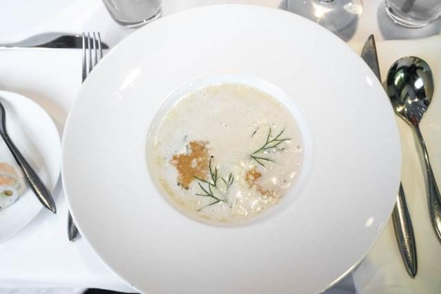 Potato soup at Chef's Table, Calgary, Canada