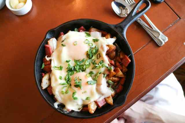Bison hash skillet from Fairmont Chateau Lake Louise, Banff