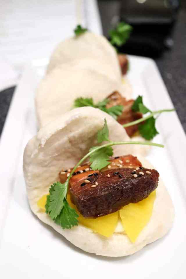 Pork belly bao from Filipino Tikim Dinner at Brokin Yolk, Calgary