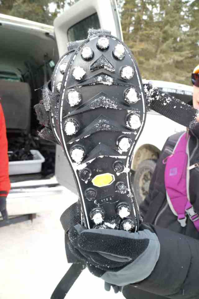 Ice cleats for Johnston Canyon Ice Walk, Banff