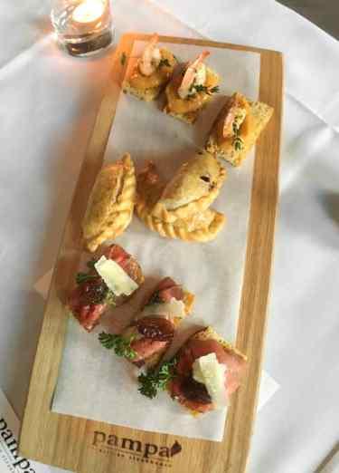 Small bites from Argentine Winemaker Dinner at Pampa Vine & Dine
