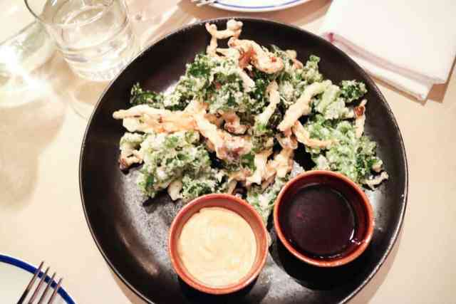 Mushroom & kale tempura from Ten Foot Henry, Calgary, Canada
