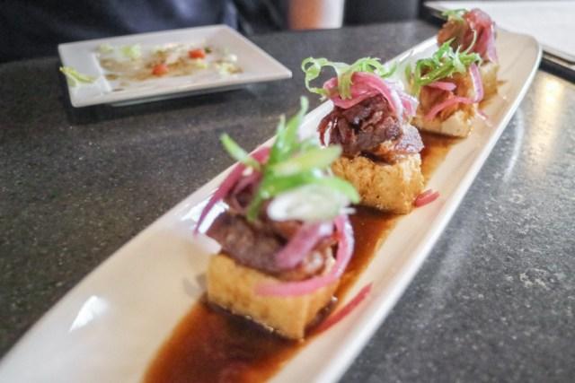 Tofu and pork belly from Oohmami, Calgary, Canada
