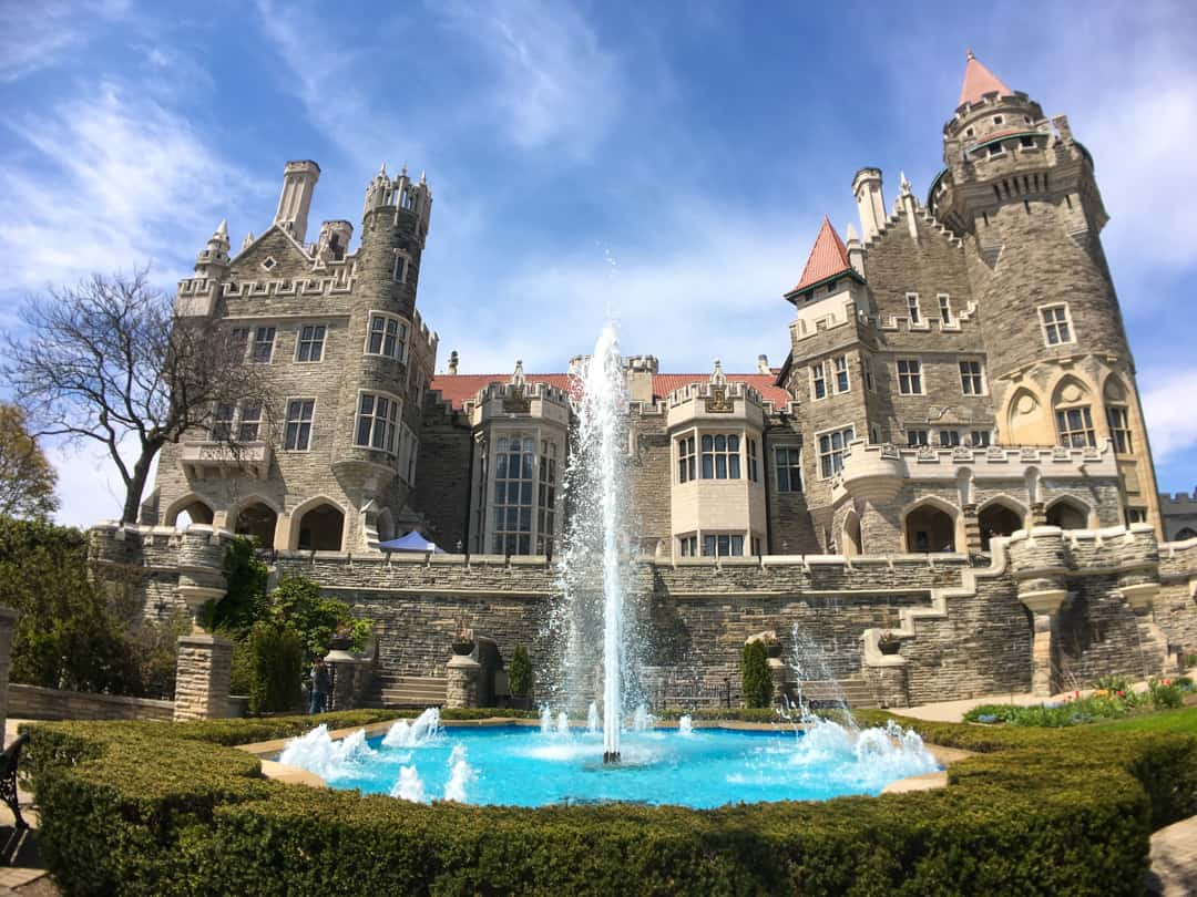 Fountain at Casa Loma Toronto