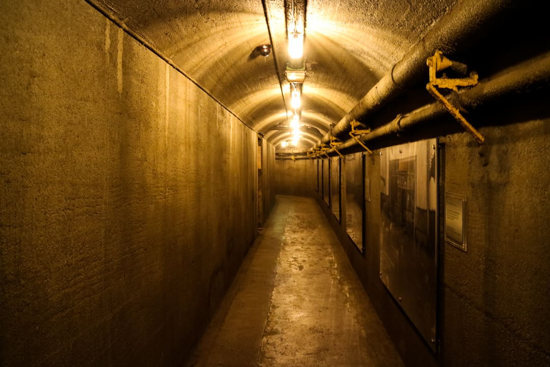 Underground tunnel at Casa Loma Toronto