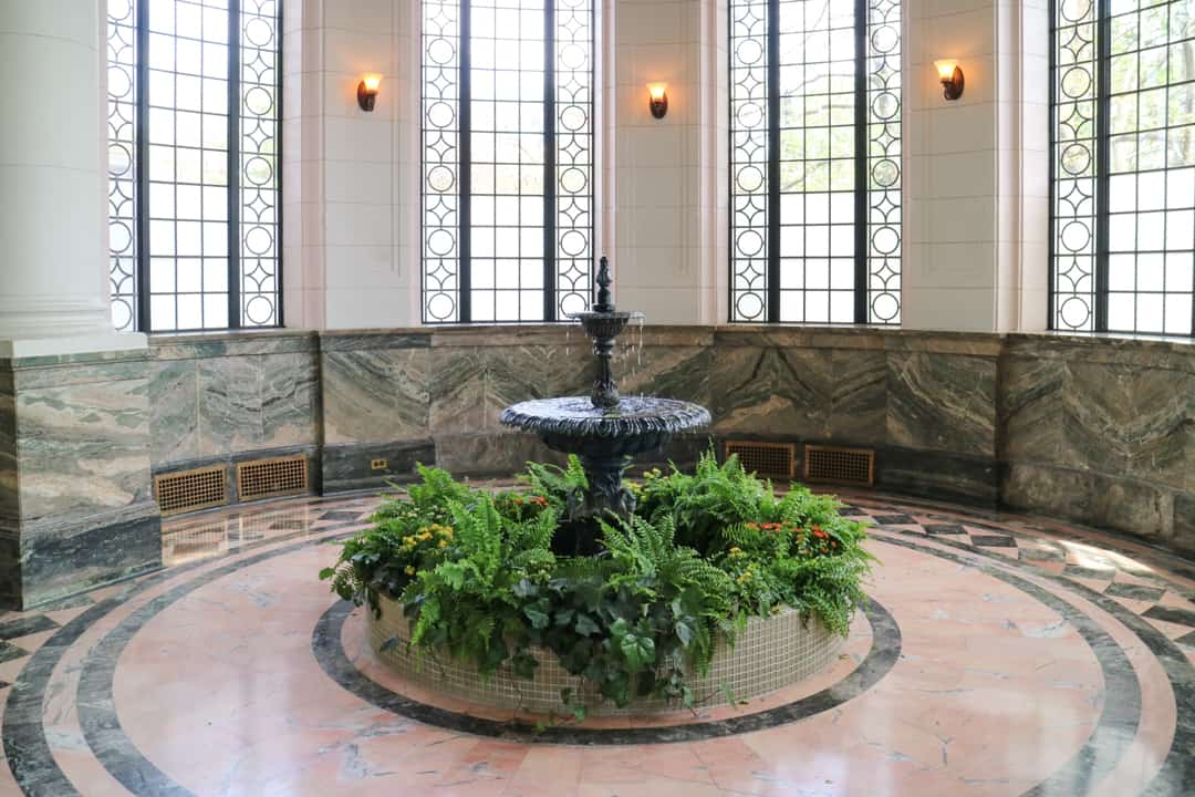 Fountain in the Conservatory at Casa Loma Toronto