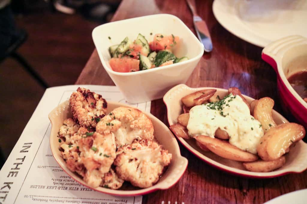 Salad, Potatoes, Caulifowers from Ruby Watchco Toronto