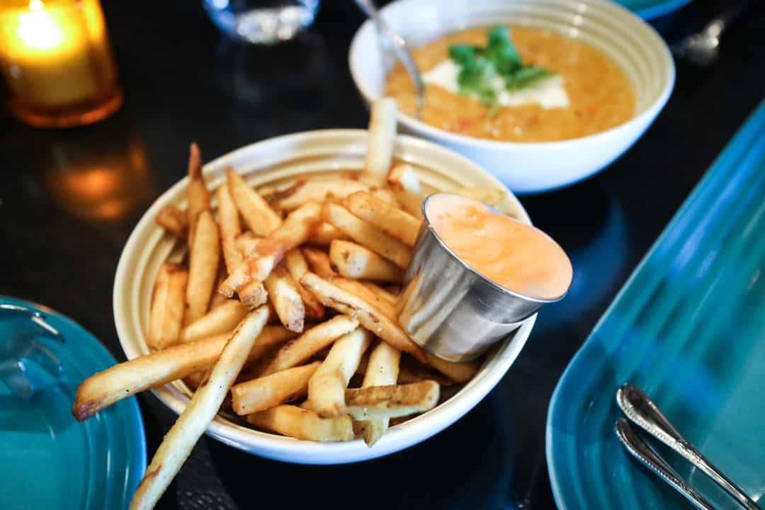 Beef fat fries from Charbar Calgary