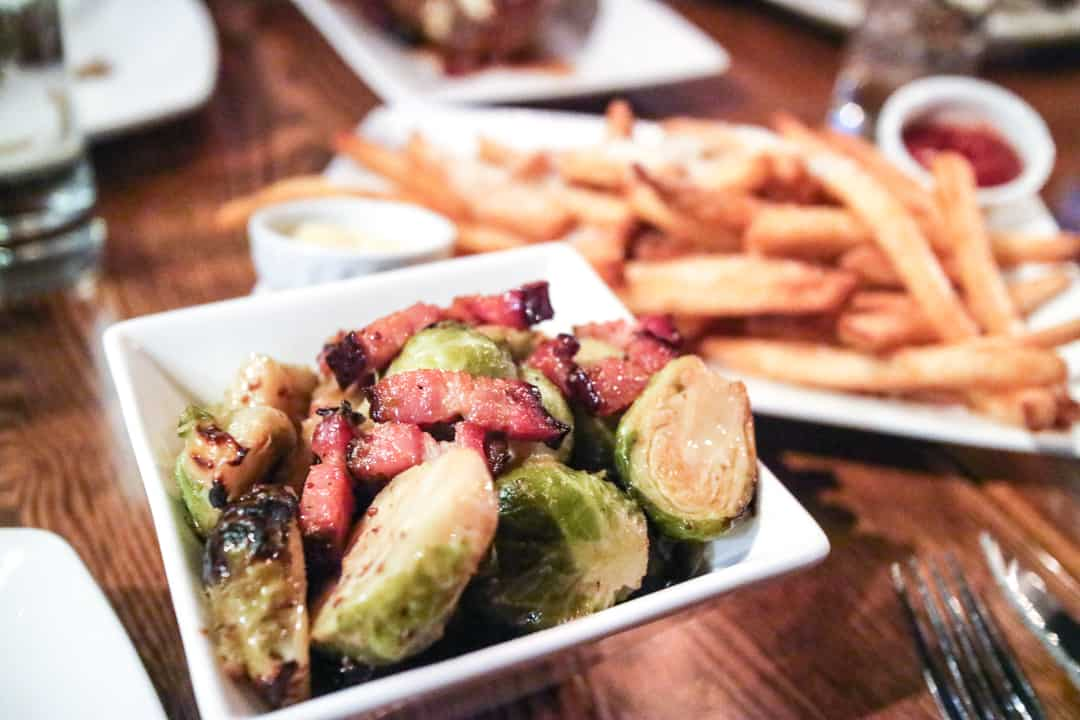 Brussels Sprouts & Parmesan Truffle Fries from Modern Steak Calgary