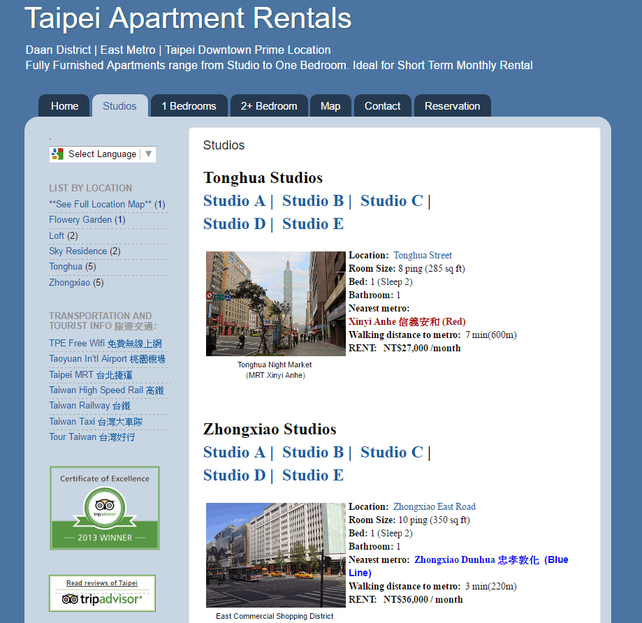 Long Term Accommodation Taipei