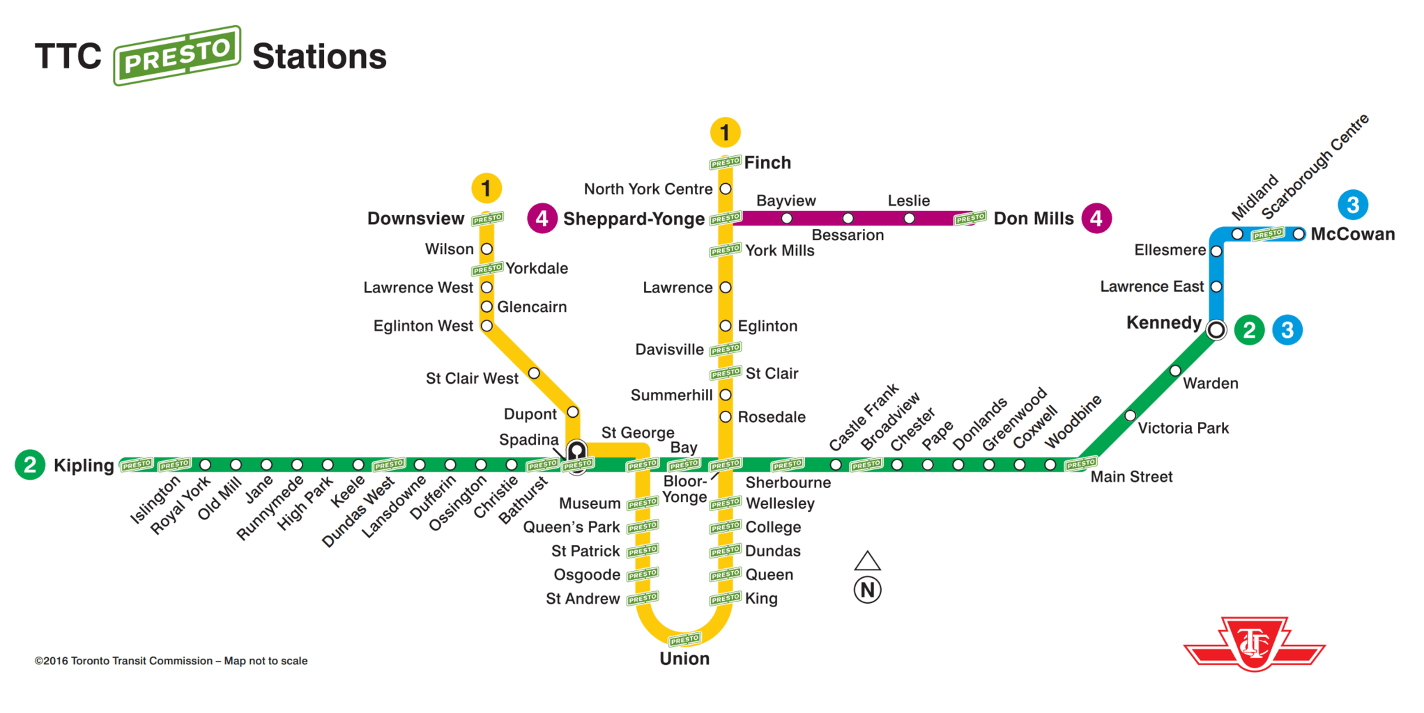 Toronto Subway Map With Streets.How To Get Around Toronto With Subway Streetcars For Two Please
