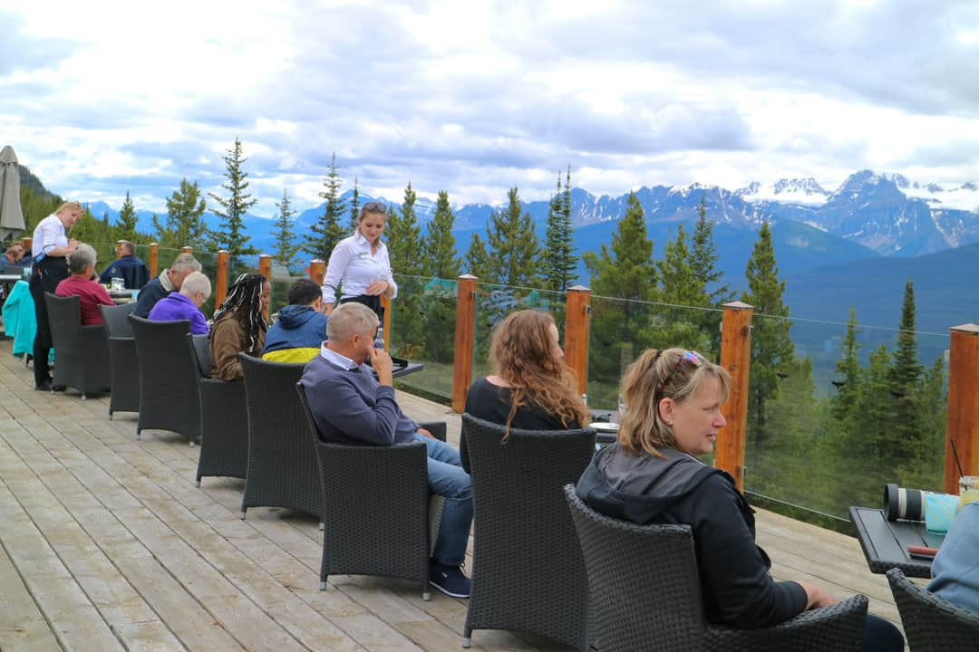 Whitehorn Bistro at Lake Louise Gondola in the Canadian Rockies