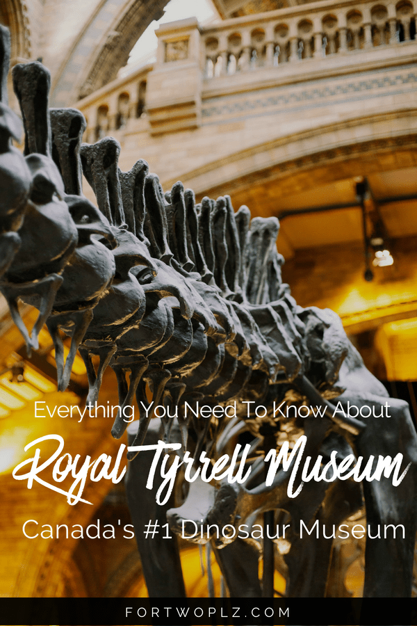 Are you a dino fan? Then you must visit Royal Tyrrell Museum when road tripping to Drumheller, Canada. This is Canada's only museum dedicated to palaeontology research. Click through to find out the top things to do and see there. #alberta #drumheller #Canada #roadtrip #travelcanada#travelguide#tripplanning#traveltips#itinerary#thingstodo#traveldestinations #summertravels #adventure #adventureseeker #bucketlist #adventuretravel