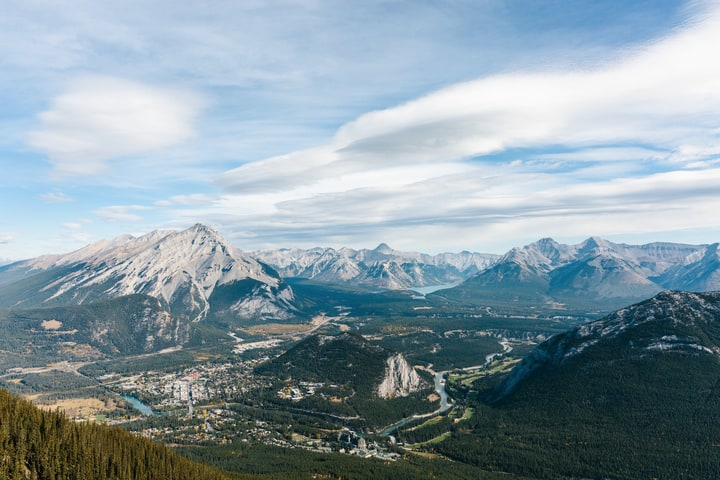 The view from Banff Gondola