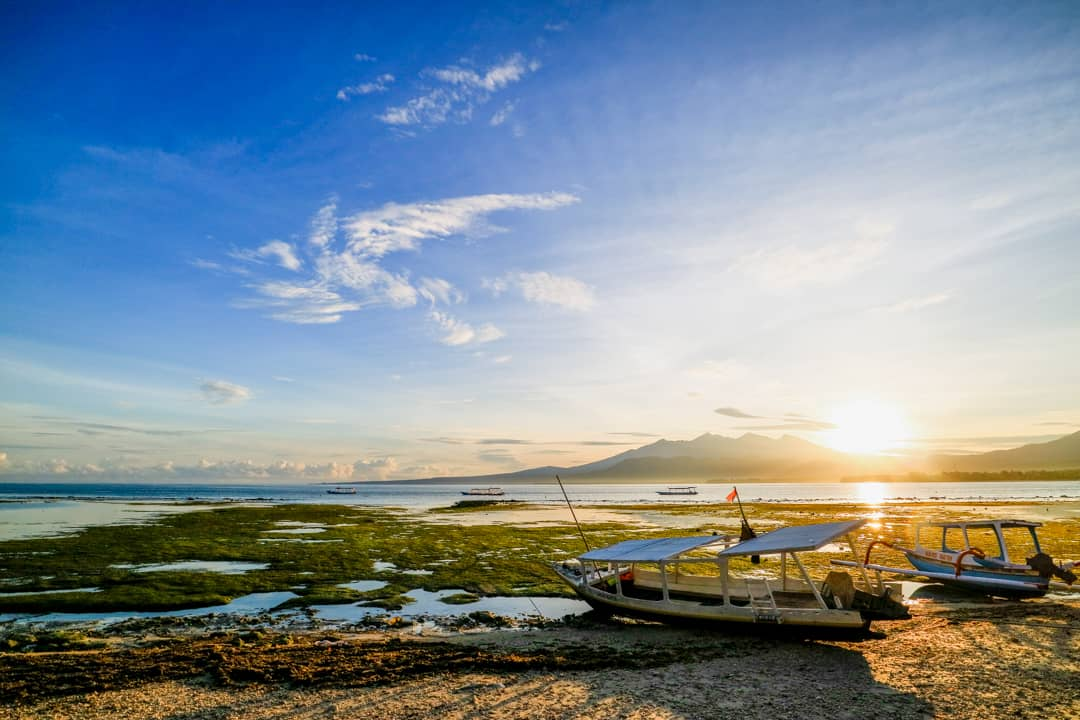 Sunrise at Gili Air Lombok Indonesia