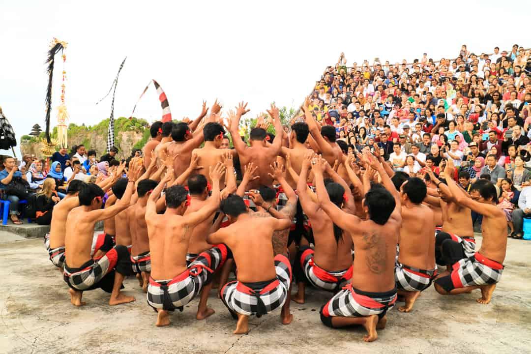 Kecak Fire Dance at UluwatuTemple Bali Indonesia
