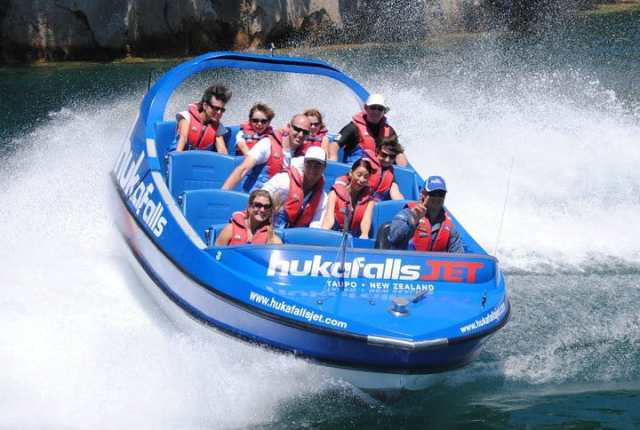 Adventure for adrenaline seekers: Jet Boating, Lake Taupo, New Zealand