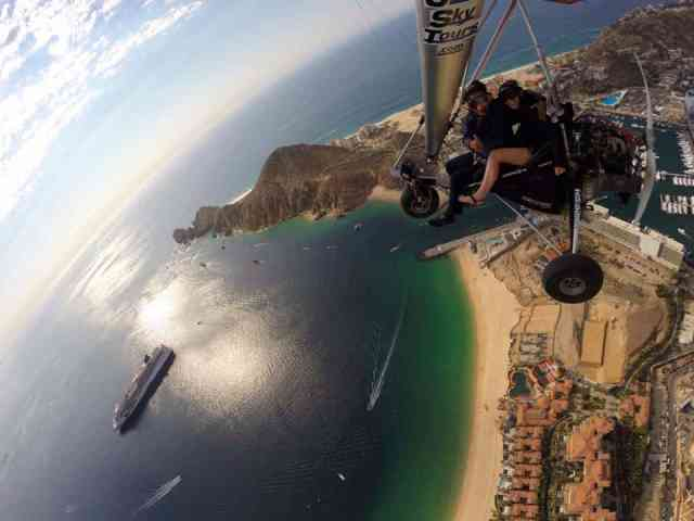 Adventure for adrenaline seekers: powered hang gliding cabo san lucas Mexico