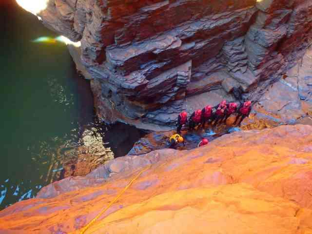 Adventure for adrenaline seekers: Canyoning, karijini western australia