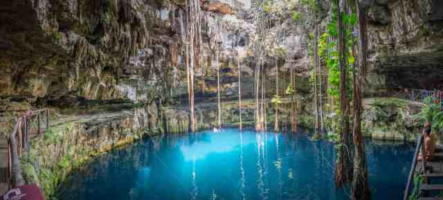 Cenote San Lorenzo Oxman Yucatan Mexico