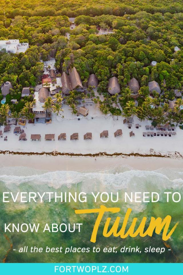 Tulum, the boho-chic beach town in Mexico, is a beautiful destination in Yucatan, Mexico charming visitors with its white sand beaches, cenotes, Mayan ruins and boho-chic boutique hotels. Visiting Tulum for the first time? Then, this practical Tulum guide will help you prep your trip, including everything from transportation, best places to eat, popular bars, unmissable instagram spots, and cute boutique hotels to stay at. Click through to learn more. #mexicotravel #thingstodoinmexico #tulum