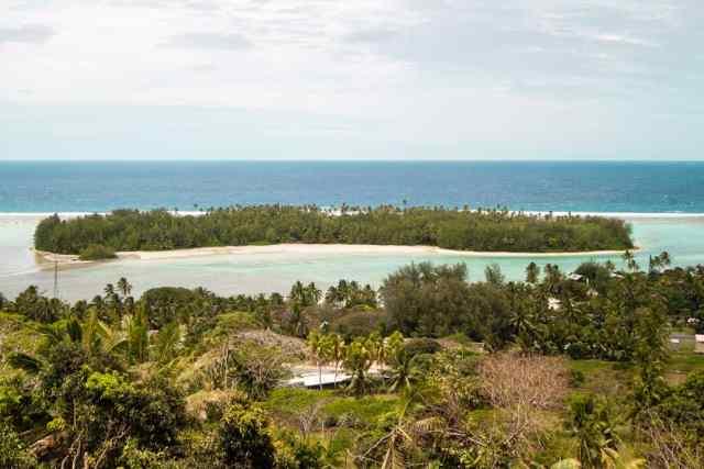 Motu Islet in Rarotonga Cook Islands