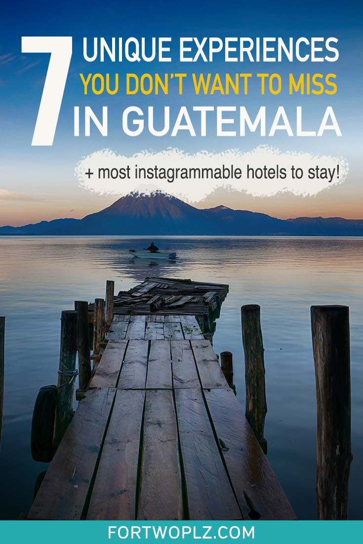 Guatemala is loaded with cultural and historical attractions. There are so many things to do in Guatemala, from visiting the colonial town of Antigua, hiking active volcanoes, to exploring the ancient Maya ruins of Tikal. This guide summarizes a list of unique experiences in Guatemala you can't miss out on. Plus the most instagrammable hotels to stay in Guatemala! #guatemalatravel #centralamerica #travel